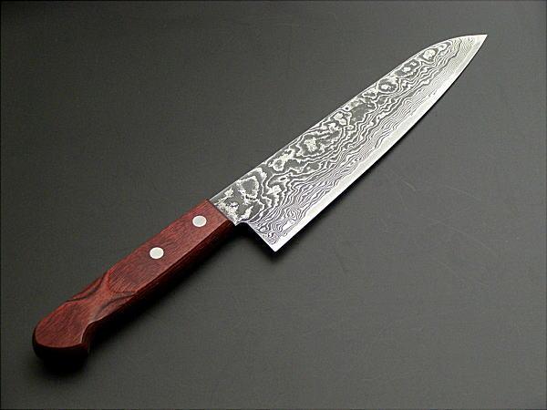 honmamon rakuten global market powder heiss steel r2 damascus chef 39 s knife gyuto 180mm. Black Bedroom Furniture Sets. Home Design Ideas