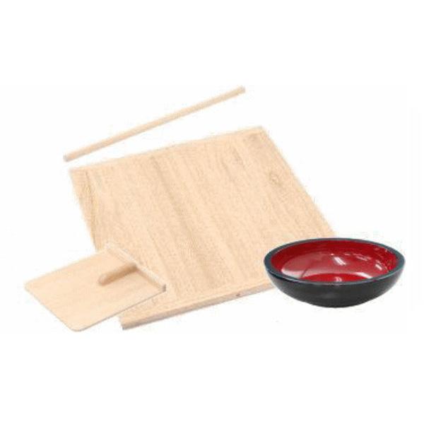 送料無料 【蕎麦(そば)打ちセット】蕎麦切包丁なし (そば切り包丁・そば打ち道具 手打そば)