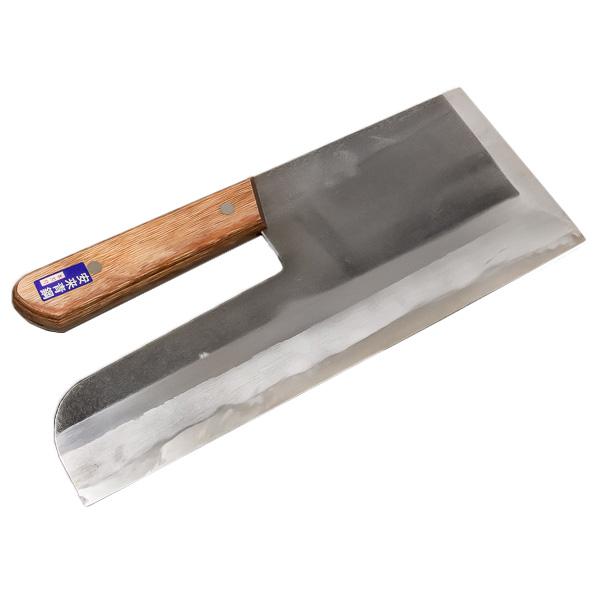 安来青紙鋼 麺切り包丁 330mm 木柄 本刃付(そば切り包丁 蕎麦切り包丁 そば道具)