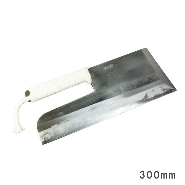 安来青紙鋼 麺切り包丁 300mm ロープ巻き 本刃付 ( 蕎麦切り包丁 そば切り包丁) 楽ギフ_
