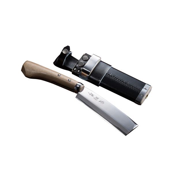 腰鉈 火造り 極上 腰ナタ 両刃 青紙鋼 150mm 鞘付き なた 送料無料