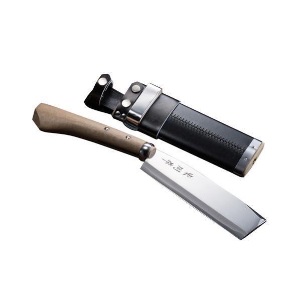 腰鉈 火造り 極上 腰ナタ 片刃 青紙鋼 180mm 鞘付き なた 送料無料