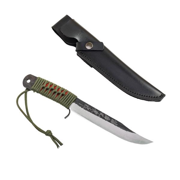 青紙鋼剣ナタ 165mm 合皮ケース付 アウトドア ナイフ 剣鉈