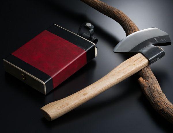 Authentic Japanese Axe Sakiba Type, Handmade by Tosa Craftsmen, Blade Edge : Aogami Steel