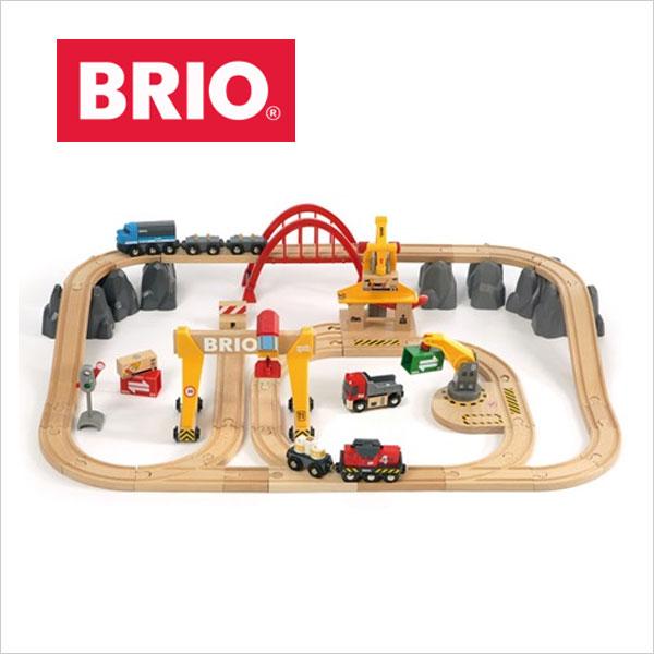 【ラッピング対応】 大小3つのクレーンがセットになったデラックスセット! BRIO(ブリオ)カーゴレールデラックスセット 【BRIO】 ブリオ 木製レールセット カーゴデラックスセット クレーン車【BRIO ブリオ レールセット】