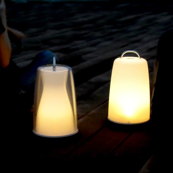 持ち運び自在の充電式照明! Lidea ポータブルLEDランプ LED照明 ポータブル コードレス 充電式 ショックセンサー 防水 アウトドア【新生活】【一人暮らし】【家具】【セレクト雑貨ショップ_hono】