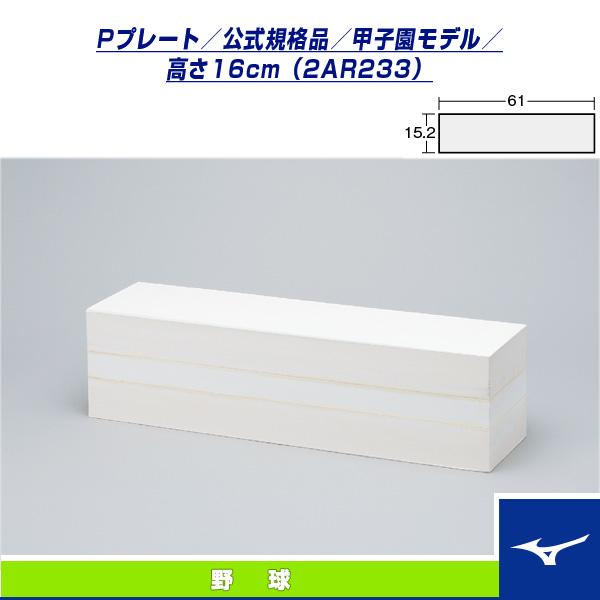 [送料お見積り]Pプレート/公式規格品/甲子園モデル/高さ16cm(2AR233)『野球 設備・備品 ミズノ』