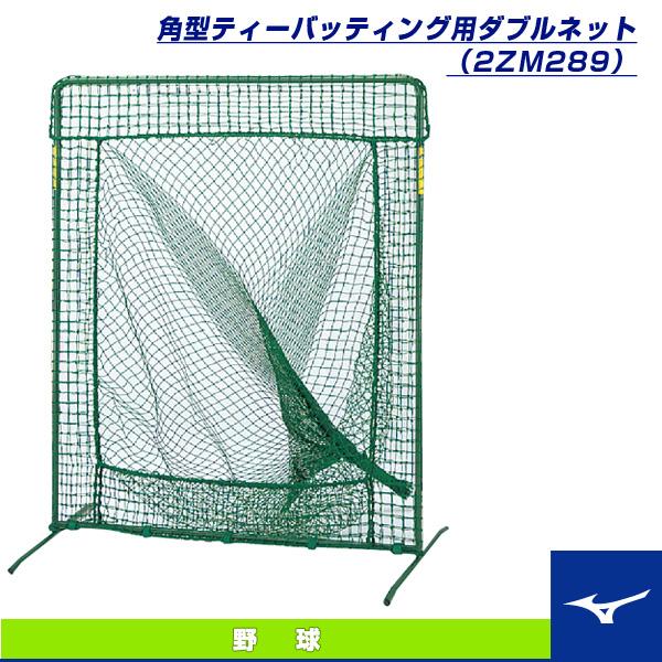[送料お見積り]角型ティーバッティング用ダブルネット(2ZM289)『野球 設備・備品 ミズノ』