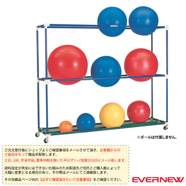[送料別途]バランスボールラック PS(ETB610)『オールスポーツ 設備・備品 エバニュー』