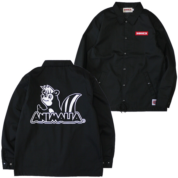 ANIMALIA[アニマリア] カスクン コーチジャケット/BLACK