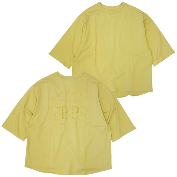 TIGHTBOOTH PRODUCTION タイトブースプロダクション : 7分袖ストレートアップTシャツ/CUSTARD