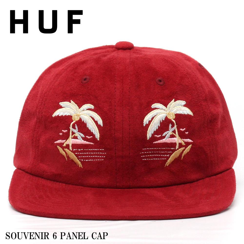 【HUF/ハフ】SOUVENIR 6 PANEL CAP/スエード素材の柔らかい生地に今期人気のスカジャンデザインを落とし込んだお洒落な逸品。大人がかぶれるキャップとしてはもってこいのデザイン、カラーリングになっています。人気の為お早めに。