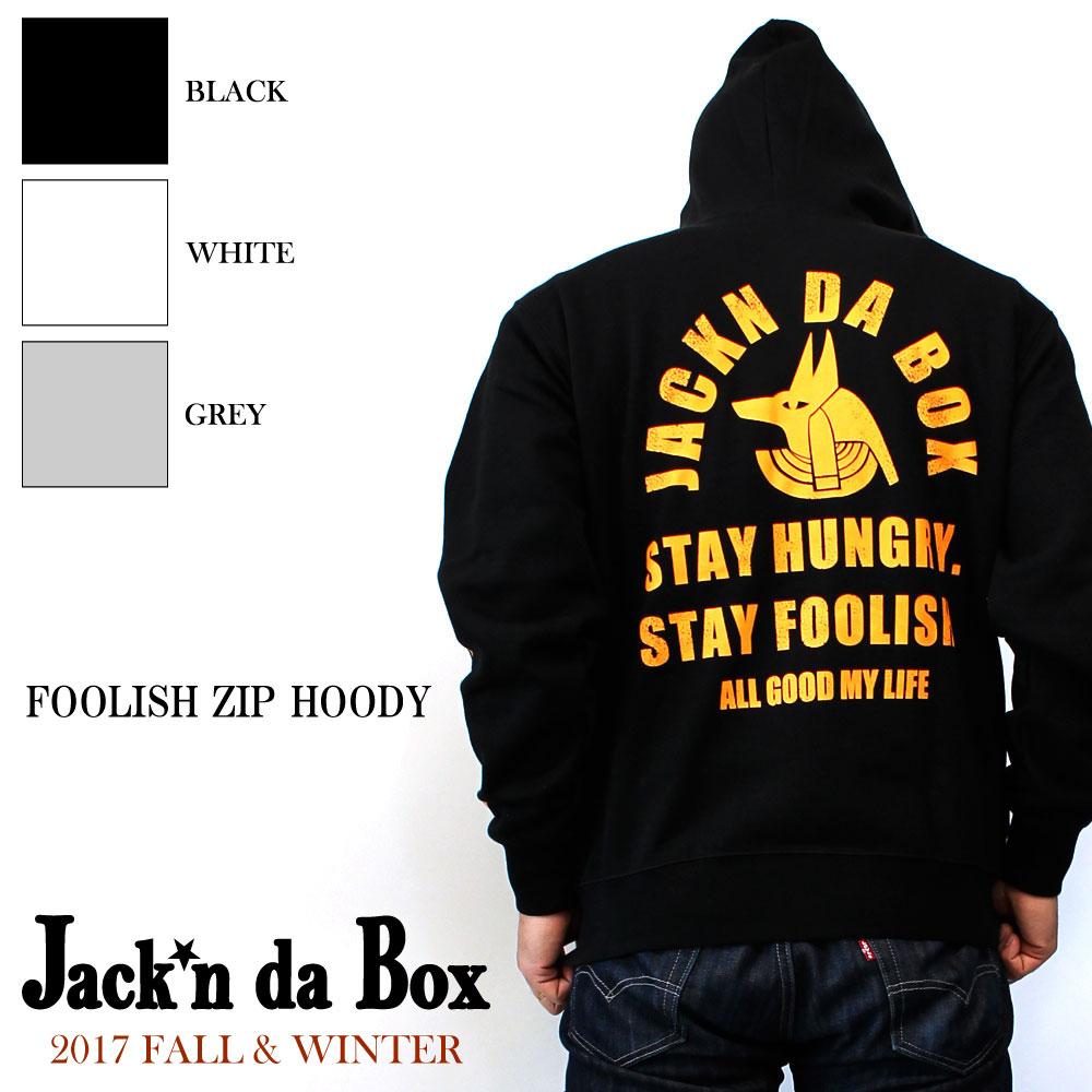 【Jack'n da Box original】FOOLISH ZIP HOODY/胸、袖、背中と全てにデザインを注ぎ込んだ2017年秋冬の最新作。インパクトはあるが派手過ぎないカラーリング。ふっくら柔らかいボディーで厚さもしっかり!!