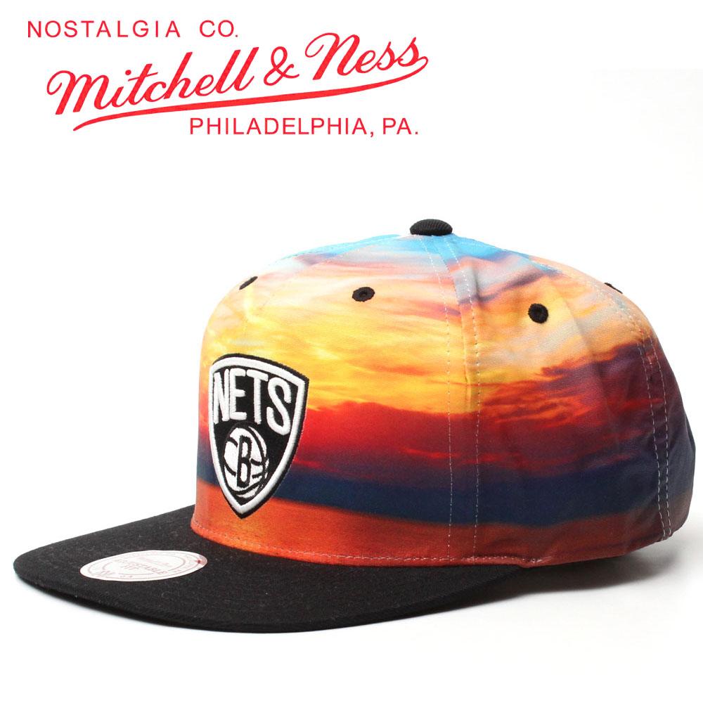 【Mitchell&Ness】SUNSET PRINT BROOKLYN NETS SNAPBACK CAP/ミッチェルアンドネスから色鮮やかにボディー全体に夕日柄がプリントされたお洒落で珍しいスナップバックが入荷!!海外買付の激レアアイテム。ブルックリンネッツ