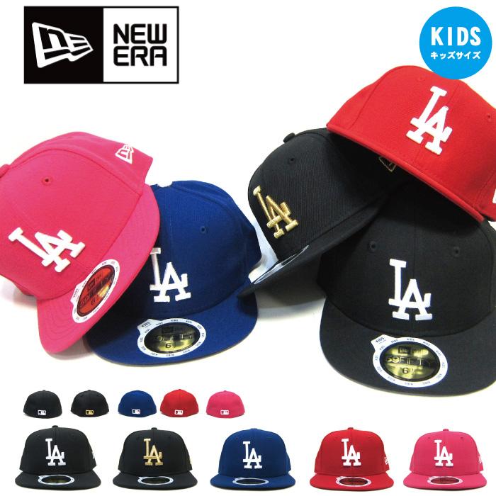 新時代兒童帽 59FIFTY LA 道奇道奇兒童新時代帽擬合擬合紐埃爾嬰兒初中孩子嘻哈 B B 女孩男孩 B 系列舞蹈服裝帽子父-子 05P09Jan16 的新時代