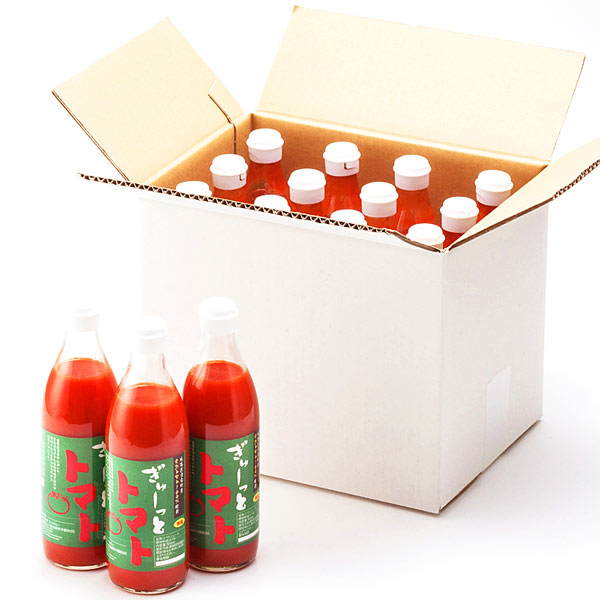 有塩 トマトジュース 北海道産トマト 塩 トマトジュース 1ケース(12本入り×500ml) 価格11664円 北海道のトマトジュース 有塩