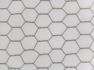 ビニール被覆亀甲金網(灰色・グレーネット) 0.5mm*3分目*1m幅*25m