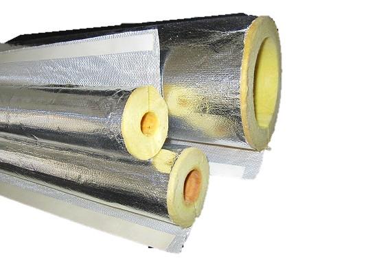 600℃の高温でも使用できるワンタッチMGカバー 吸音効果有 ロックウール保温筒 ALGC貼 本店 25mm厚 125A 内径140mm 新作 1m