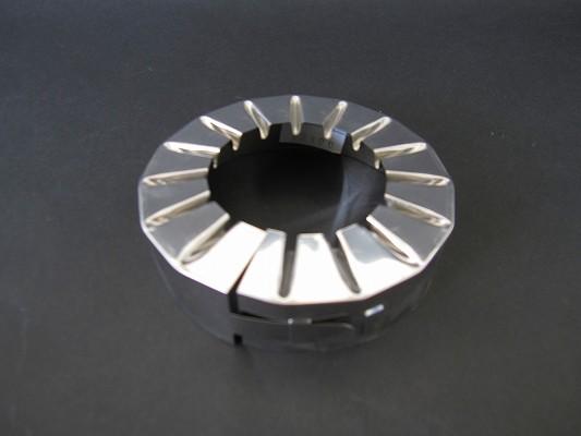 超人気 専門店 保温工事の配管端末処理に超便利 ステンレス絞り菊座 15mm厚用 海外並行輸入正規品 200A