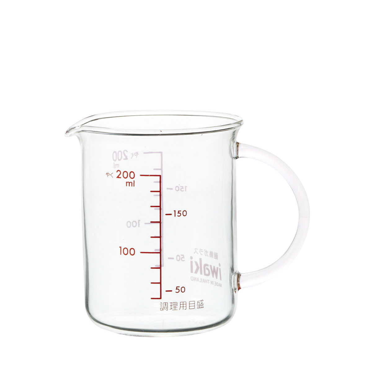 ドレッシングを混ぜたり ミルクを温めたり 卓抜 信頼 使い方いろいろ iwaki把手付メジャーカップ 200ml
