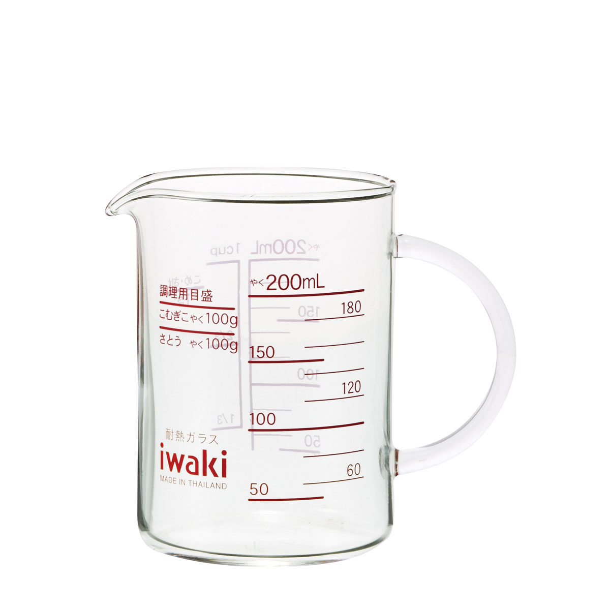 ドレッシングを混ぜたり、ミルクを温めたり、使い方いろいろ。 イワキ (iwaki) 取手付きレンジメジャーカップ200 200ml KMC-200