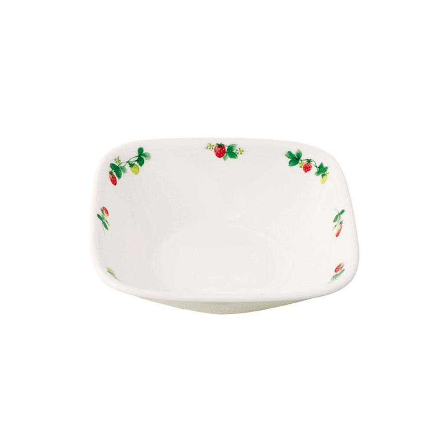 本日の目玉 飽きのこないイチゴは 白いお皿をひきたてかわいく 情熱セール 使いやすい コレール スウィートストロベリー J2310-SWT CP-9298 スクエア小ボウル パール金属