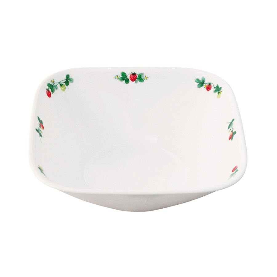 飽きのこないイチゴは 予約 白いお皿をひきたてかわいく 使いやすい コレール スウィートストロベリー 訳あり商品 パール金属 CP-9299 スクエア中ボウル J2323-SWT