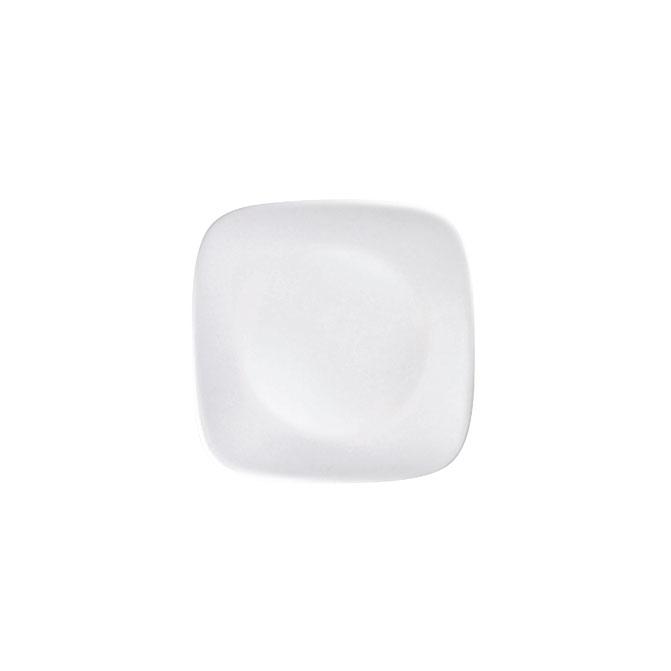 料理が引き立つホワイト シンプルで日常使いにピッタリ 半額 コレール ウインターフロストホワイト パール金属 CP-8903 スクエア小皿 永遠の定番 J2206-N