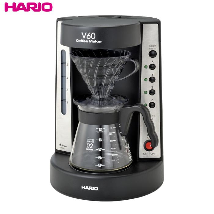 HARIO(ハリオ)NEW V60珈琲王コーヒーメーカー 実用容量750ml/2~5杯用 ドリッパーの色:透明ブラック