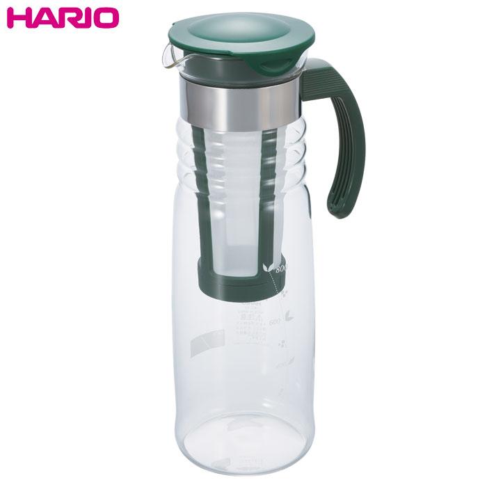 水だけで抽出する水出し茶を作ろう ハリオ HARIO 実用容量1200ml かご網付き水出し茶ポット 有名な 新品未使用