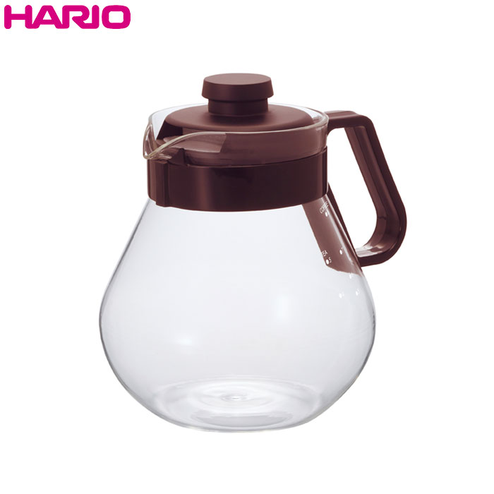 コーヒーのドリップに使いやすいシンプルなポット 茶こし付きなので紅茶も愉しめます HARIO ハリオ お得クーポン発行中 ティー カラー:ショコラブラウン 入手困難 タイム バンド下容量1000ml コーヒーサーバー