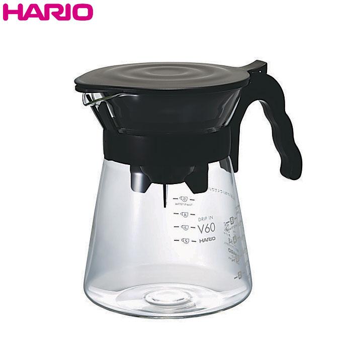 電子レンジOKなので温め直しも可能 格安SALEスタート フタが取り外せて洗いやすいので便利です HARIO ハリオ V60ドリップイン ドリッパー カラー:ブラック 税込 1~4杯用 2~5杯用 実用容量700ml サーバー