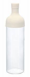 店 2013年度グッドデザイン賞受賞 ワインボトル型の水出し茶ボトル < font HARIO フィルターインボトル ハリオ 海外限定 カラー:オフホワイト 実用容量750ml FIB-75-OW