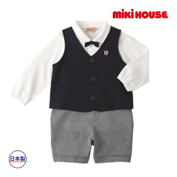 ミキハウス mikihouse 男の子用ベスト付きベビーフォーマルセット(80cm・90cm)