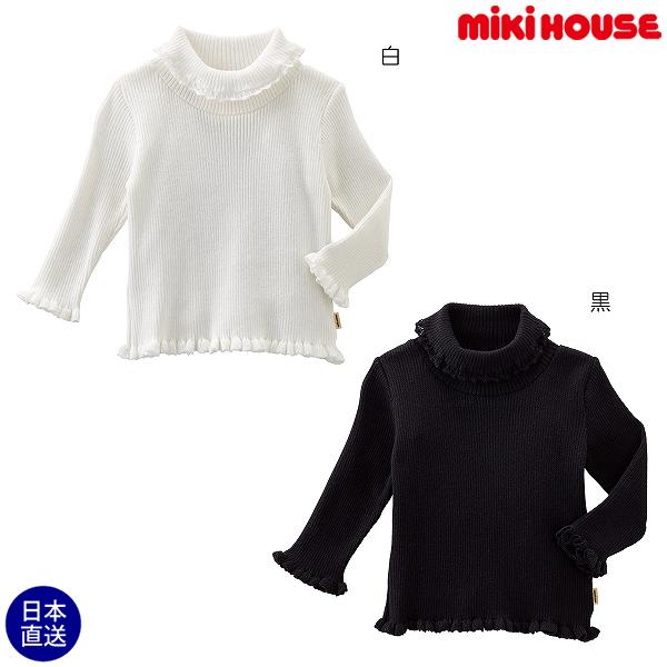 (海外販売専用)ミキハウス mikihouse ガールズ♪綿ニットタートルセーター(80cm・90cm)