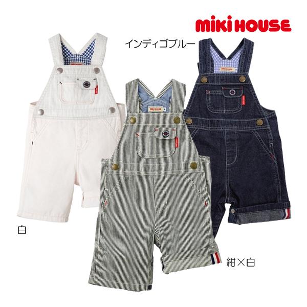 ミキハウス正規販売店/(海外販売専用)ミキハウス mikihouse デニム☆オーバーオール〈S-M(70cm-90cm)〉