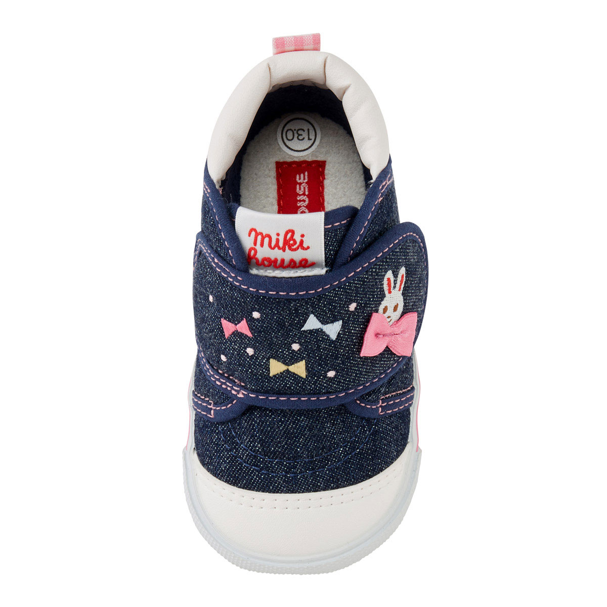 Miki house strawberry hunting ♪ うさこ second baby shoes (13cm - 16cm)