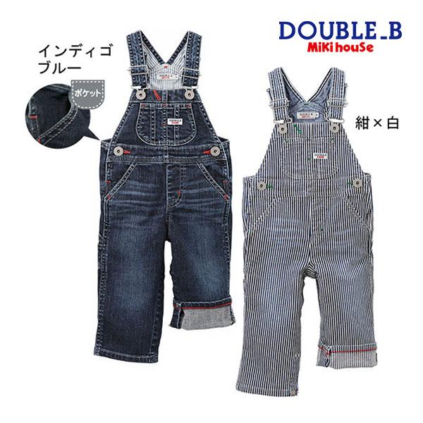 ダブルB【DOUBLE B】デニム★オーバーオール〈S-M(70cm-90cm)〉