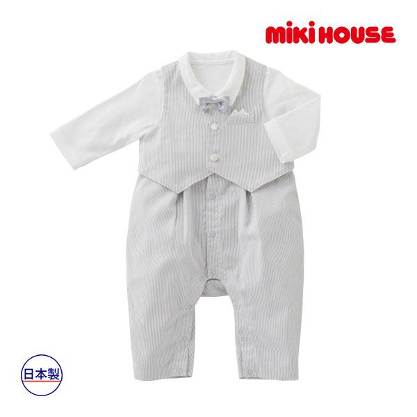 ミキハウス【MIKI HOUSE】(ベビー)タキシード風フォーマルカバーオールセット(70cm・80cm)