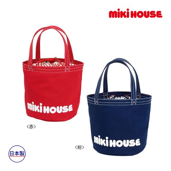 ミキハウス【MIKI HOUSE】バケツ型 ロゴトートバッグ