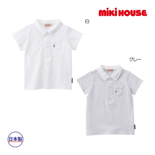 (海外販売専用)ミキハウス mikihouse 天竺素材のポロシャツ(100cm)