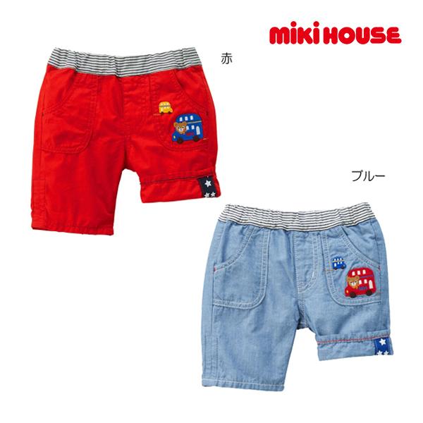 (海外販売専用)ミキハウス mikihouse プッチー バスモチーフ6分丈パンツ(120cm・130cm)