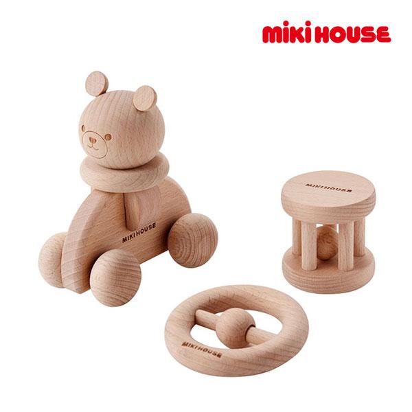 (海外販売専用)ミキハウス mikihouse ウッドトイセット【箱入】