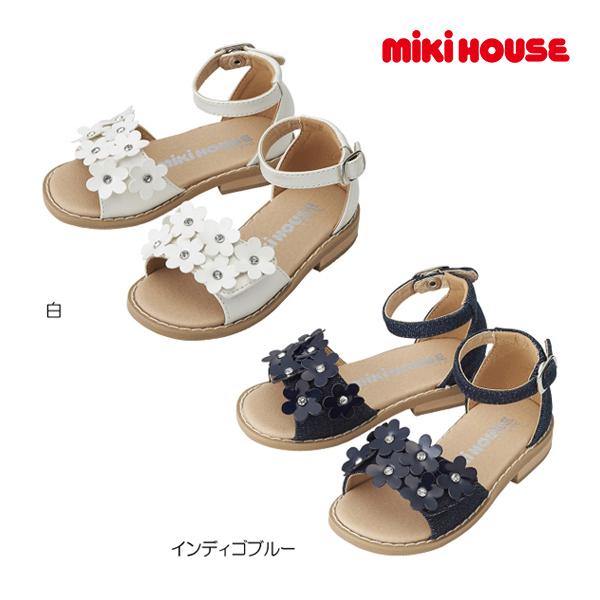 (海外販売専用)ミキハウス mikihouse お花いっぱいキッズサンダル(15cm-21cm)