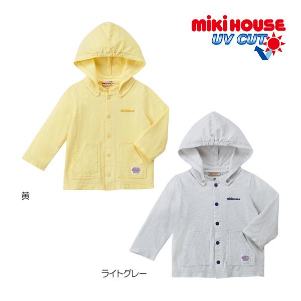 ミキハウス正規販売店/(海外販売専用)ミキハウス mikihouse 虫よけ加工素材パーカー(80cm-130cm)