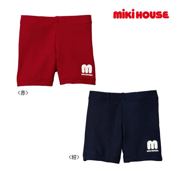 ミキハウス正規販売店/(海外販売専用)ミキハウス mikihouse mロゴ☆3分丈水着(120cm・130cm)