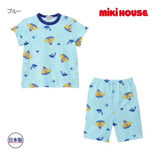 (海外販売専用)ミキハウス mikihouse プッチー 天竺素材の半袖パジャマ(6分丈パンツ)(80cm-130cm)