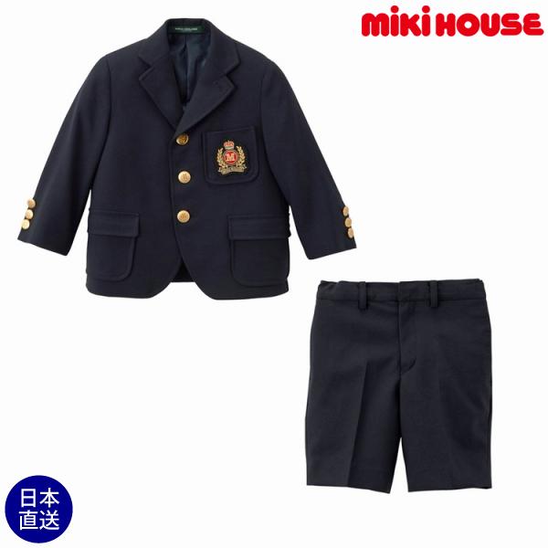 ミキハウス正規販売店/ミキハウス mikihouse エンブレムつきスーツ(120cm・130cm)