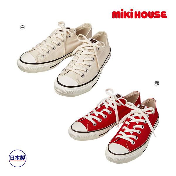(海外販売専用)ミキハウス正規販売店/ミキハウス mikihouse キャンバスシューズ(23cm・24cm・25cm)