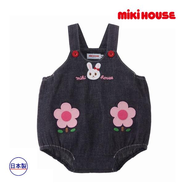 ミキハウス正規販売店/ミキハウス mikihouse ロンパース〈S-M(70cm-90cm)〉